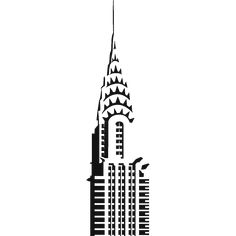 Empire State building pattern. Use the printable outline ...
