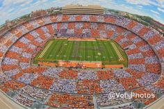 First time ever Neyland Stadium goes Checkerboard , Knoxville Tennessee October 14, 2014 TN/ FL game.. How awesome is that !!