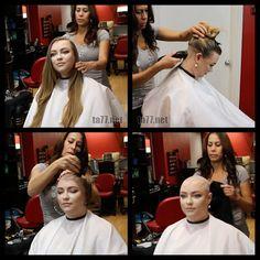 Long Hair Cut Short, Girl Short Hair, Short Hair Styles, Bald Head Women, Shaved Head Women, Before After Hair, Before And After Haircut, Summer Haircuts, Girl Haircuts