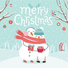 Printable Christmas Cards - Merry Snowman Hot Cocoa Free Printable Christmas Cards, Christmas Card Sayings, Merry Christmas Quotes, Merry Christmas Greetings, Christmas Poster, Christmas Couple, Christmas Greeting Cards, Christmas Fun, Merry Christmas Vector