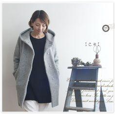 【ICHI イチ】ウール フード コート (150539)