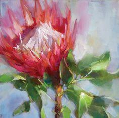 Two little protea pics Acrylic Flowers, Abstract Flowers, Watercolor Flowers, Protea Art, Protea Flower, Australian Native Flowers, Flower Painting Canvas, Dream Painting, King Art