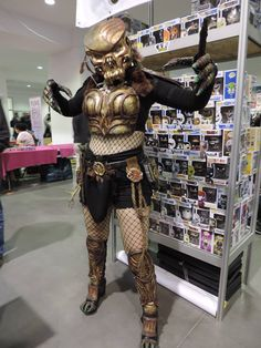 Pyrkon 2016 Female Predator Cosplay
