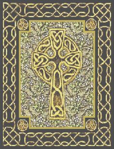 cross stitch:  Celtic cross