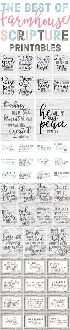 The Best of Free Farmhouse Style Scripture Printables is part of Scripture printables - The best of Farmhouse style scripture printables! Last year I shared many free farmhouse style printables with you guys, like the ones in Do It Yourself Home, Vinyl Projects, Circuit Projects, Silhouette Projects, Wooden Signs, Making Ideas, Just In Case, Free Printables, Words