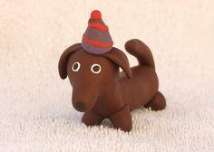 Daschund+Weiner+Dog+Birthday+Cake+Topper+by+cockTHEshutter+on+Etsy,+$18.00