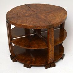 Art Deco Walnut Coffee Table Nest For Sale London Vintage