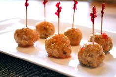 images of asian appetizers | Spicy Asian Cocktail Meatballs