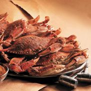 Blue claw crabs...a summer favorite...with an ice cold beer, of course!