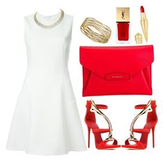 """""""Red vixen"""" by southern-mom ❤ liked on Polyvore featuring Victoria Beckham, Giuseppe Zanotti, Givenchy, Harry Winston, Christian Louboutin and Yves Saint Laurent"""