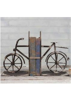 Vintage Bicycle Bookends Home Decor