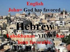 John Hebrew Words, Meant To Be, Names, English, God, Movies, Movie Posters, Dios, Films