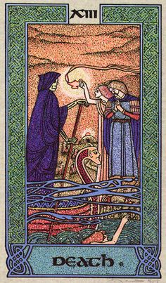 XIII. Death - Celtic Tarot by Courtney Davis & Helena Paterson