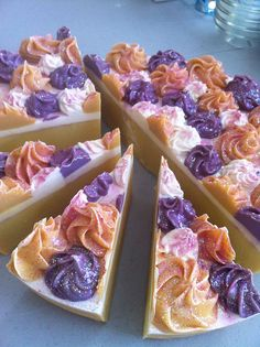 Soap Cake Slice  Spring Berry Mimosa by SmelliciousSoaps