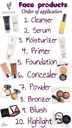 This is the exact order you should apply your Younique face products!   www.youniqueproducts.com/tonyasanwick