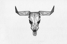 Geometric deer tattoo - sketch by Allison Kunath http://www.behance.net/gallery/Geometric-Drawings-Misc/3395219