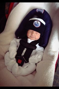 Newest member to my family. My son Nathan Bryce Bulldog-Fournier an #Oilers fan for life - Dustin Fournier