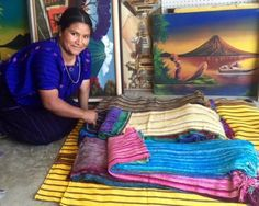 Organic Bamboo Hand-woven Chenille Scarves from Lake Atitlan, Guatemala