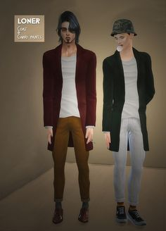 Male Coat & Chino Pants at Loner via Sims 4 Updates Check more at http://sims4updates.net/clothing/male-coat-chino-pants-at-loner/