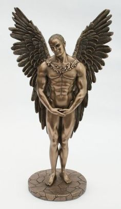 Cold Cast Bronze Angel Statue Entitled Heaven Sent - Adonis Sculpture Inspired By The Mythical Icarus: Amazon.co.uk: Kitchen & Home