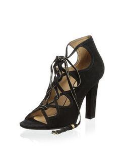 -99,200% OFF Salvatore Ferragamo Women's Tyla 1 Lace Sandal with Tassels (Black)