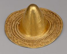 Conical boss from a bowl with granulated decoration, late Dynasty XIX–Third Intermediate Period (ca. 1188–712 B.C.)  From Bubastis  Gold