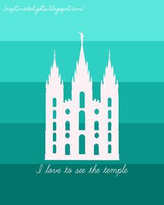 I love to see the temple!  Salt Lake City Temple Prints in TONS of colors!  Free!  Love these!