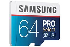 Samsung PRO Select Micro SDXC Memory Card, 64GB, 95MB/s (MB-MF64DA/AM)