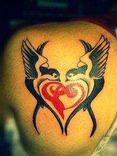 Tattoo swallows realizado por mary rueda #tattoo #tattoos #swallow #ink