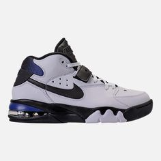 Right view of Men's Nike Air Force Max Basketball Shoes in White/Black/Cobalt Nike Air Force Max, Nike Max, Basketball Jersey, Basketball Shoes, Rockets Basketball, Basketball Court, Nike Shoes, Shoes Sneakers, Mens Nike Air