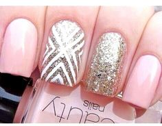 Chevron nail art idea