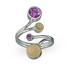 "Treble Ring by Elizabeth Garvin (Gold, Silver & Stone Ring) (1.25"" x 0.88"")"