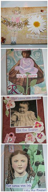My Flower girl ATC series
