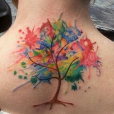 Watercolor tree by Char McGaughy from Stainless Studios in Dallas, Texas. Her work is amazing.