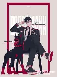 """인플릭 INPLICK on Twitter: """"댕댕이… """" Anime Boys, Hot Anime Guys, Cute Anime Boy, Manga Boy, Pretty Art, Cute Art, Character Concept, Character Art, Boy Illustration"""