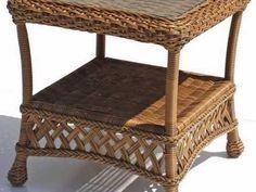 Outdoor Wicker End Table - Montauk Shown in Natural - wickerparadise.com - YouTube