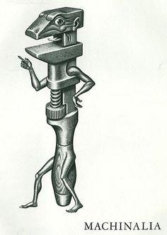 Illustration: Artzybasheff's Machinalia - AnimationResources.org - Serving the Online Animation Community