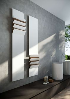 Flaps by Victor Vasilev A heater for the bathroom that doubles as a rack.