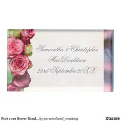 Shop Pink rose flower floral and silver wedding table card holder created by personalized_wedding. Wedding Sets, Floral Wedding, Wedding Favors, Metal Card Holder, Card Table Wedding, Pink Rose Flower, Table Cards, Romantic Weddings, Floral Bouquets