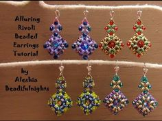 Lessons With Odin: Superduo Netted Rivoli Jewelry Tutorial - YouTube