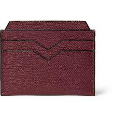 Pebble-Grain Leather Cardholder   MR PORTER