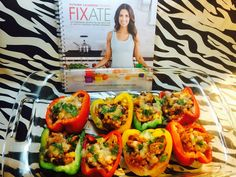 Chicken Stuffed Bell Peppers - 21 Day Fix - Fixate   #fixate #cleaneating #21dayfix #healthy  #fitness #food #hammerandchisel