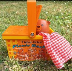 Orangevertevintage — Panier Picnic Basket Fisher Price Vintage