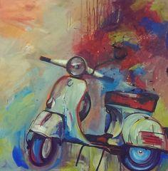 Melanie Geis #Marabu Artist #Acryl #Vespa