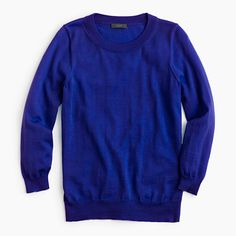 Crew Tippi Sweater in Bright Ocean J. Crew Tippi Sweater in Bright Ocean - Petite Small Worn once, like new condition. Merino Wool Sweater, Cashmere Sweaters, Women's Sweaters, Petite Sweaters, Sweaters For Women, J Crew Style, My Style, Classic Style, Discount Mens Clothing
