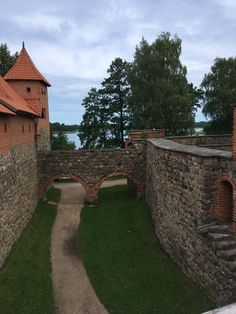 Very close to Vilnius, castle Trakai is worthy of a visit. Us Travel, Family Travel, Lithuania, Eastern Europe, Tourism, Brick, Castle, Island, Vacation