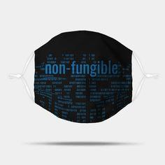 Crypto Tech Blue Non-Fungible Digital Array - Crypto Tech - Mask | TeePublic Phone Covers, Tech, Personal Care, Good Things, Mugs, Bright Green, Future, Digital, Blue