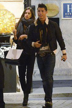 Irina Sheik and Cristiano Ronaldo street style