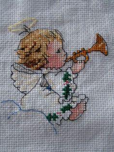 <b>haft krzyzykowy aniolki