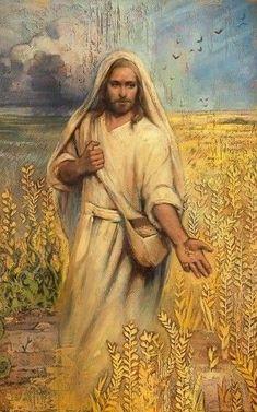 Jesus Artwork, Jesus Christ Painting, Christian Paintings, Christian Artwork, Bible Parables, Genesis Bible, Image Jesus, Spiritual Pictures, Jesus Christ Quotes
